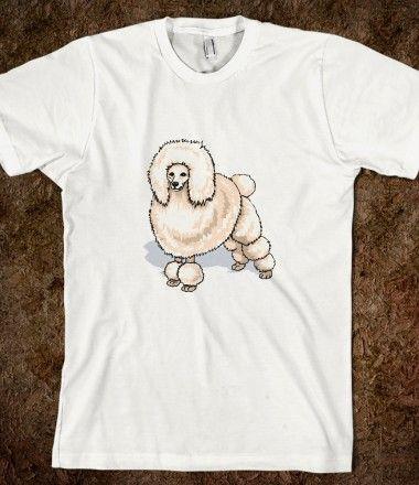 White Poodle Shirt on Skreened, $24.99