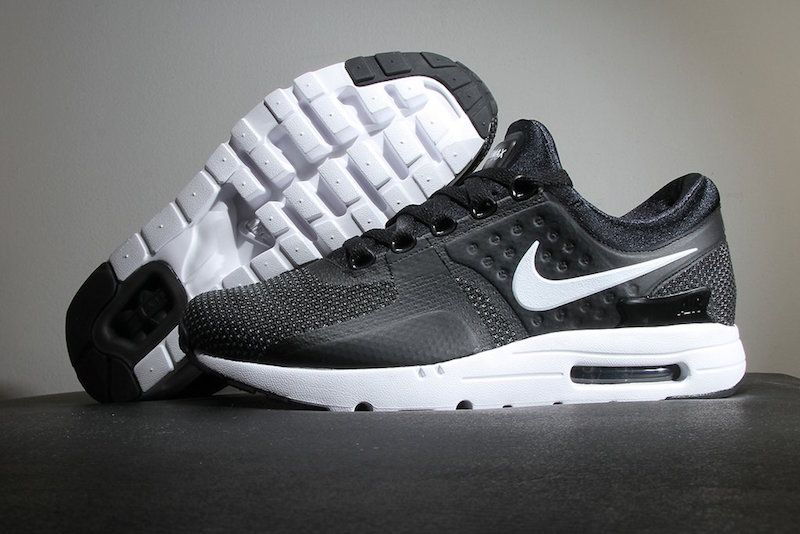 men's nike air max zero essential black & white twins 1