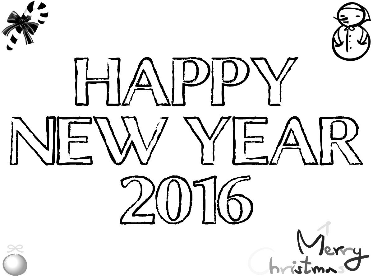 Happy New Year 2016 Pencil Sketch Happy New Year 2017