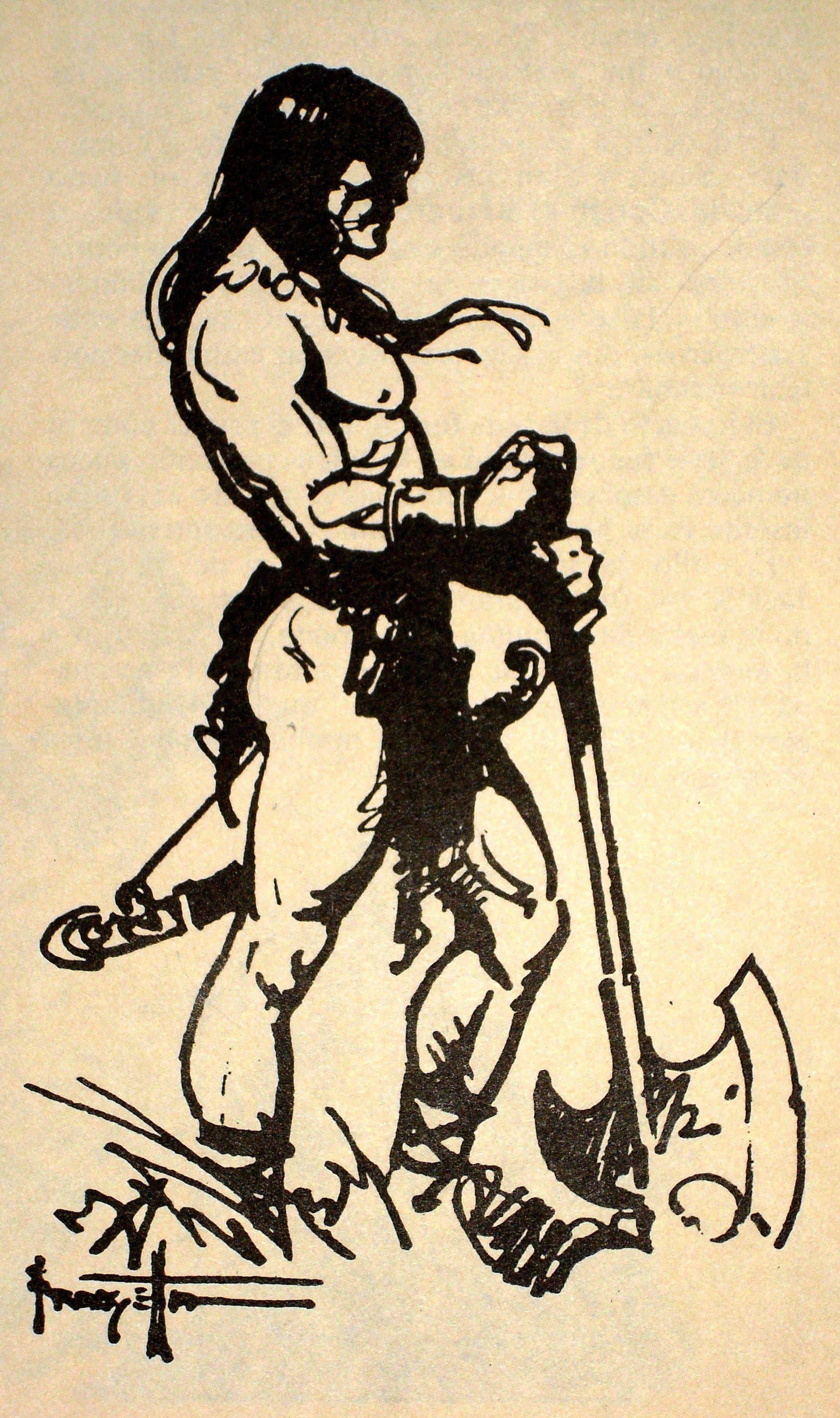 An image. two heroes. Conan by Frank Frazzeta   Frank Frazzeta ...