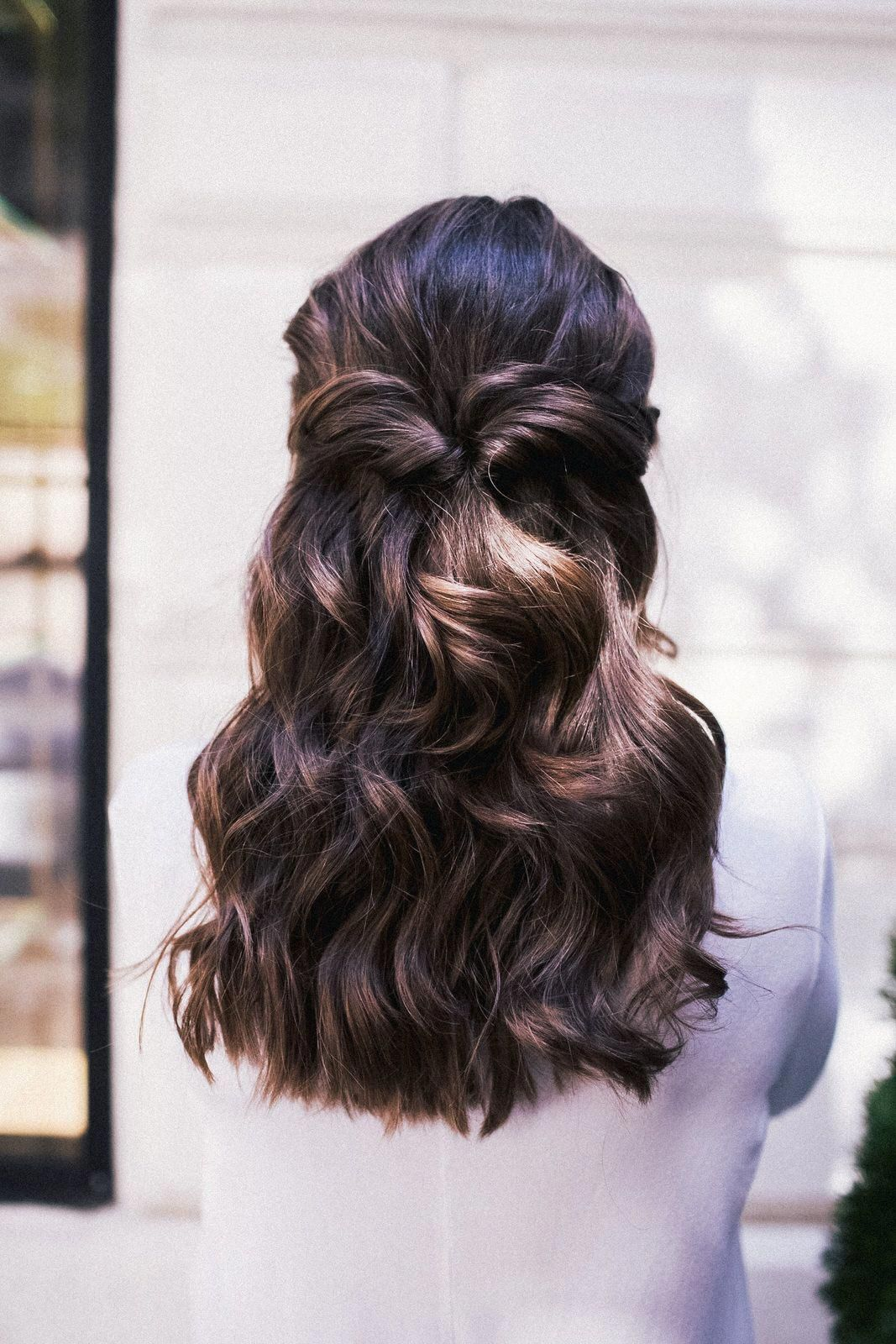 Holiday hair the easiest half up hairstyle sequins u stripes