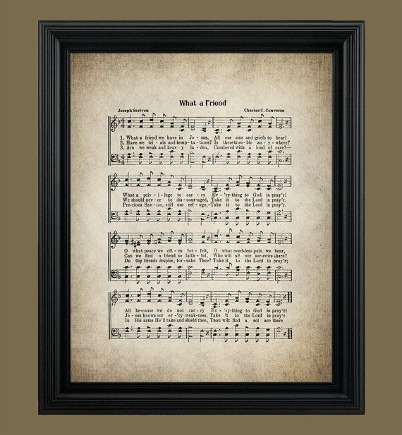 What a Friend Hymn What a friend we have in by VintageArtRevived ...