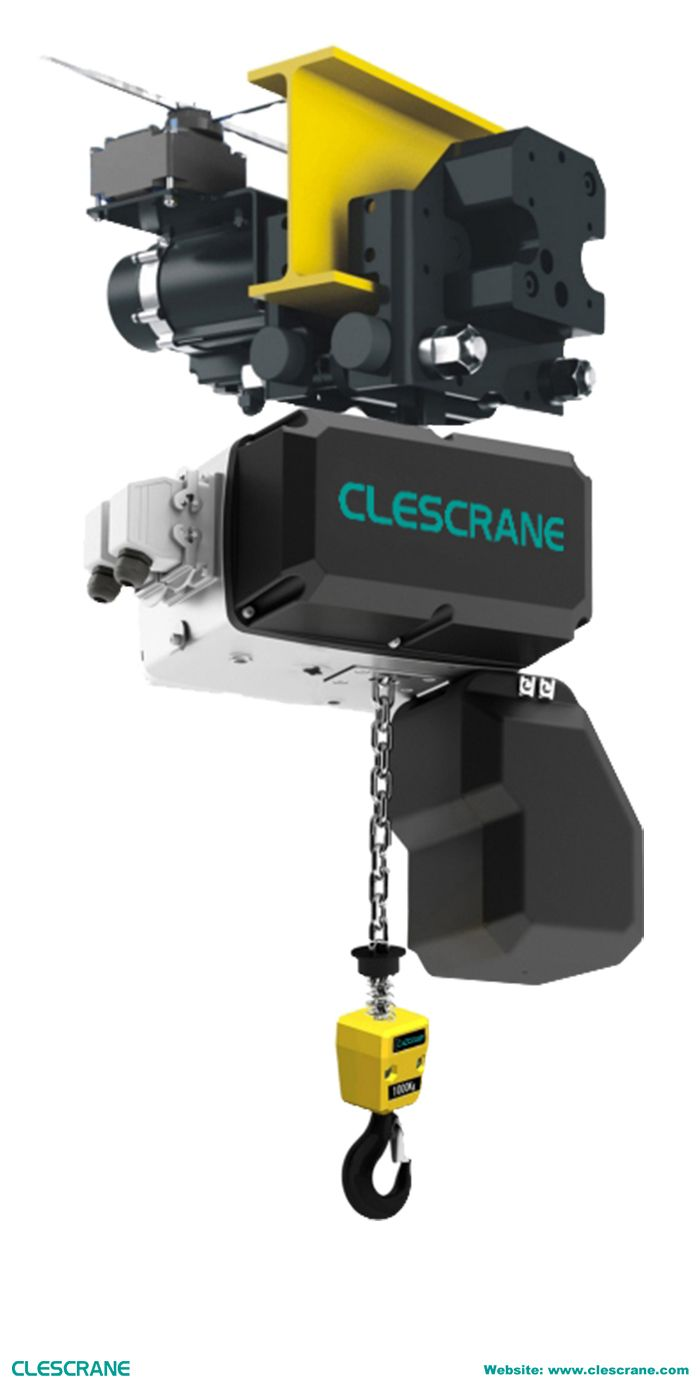 medium resolution of the lifting capacity of clescrane cch series electric chain hoist is from to 10 the chain hoist has features of compact structure modular design and free