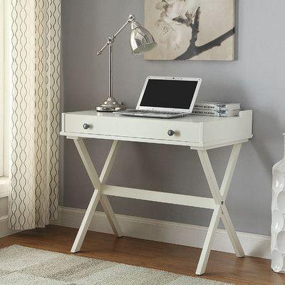 Carolina Cottage Kennedy Flip Top Writing Desk Finish: Antique White