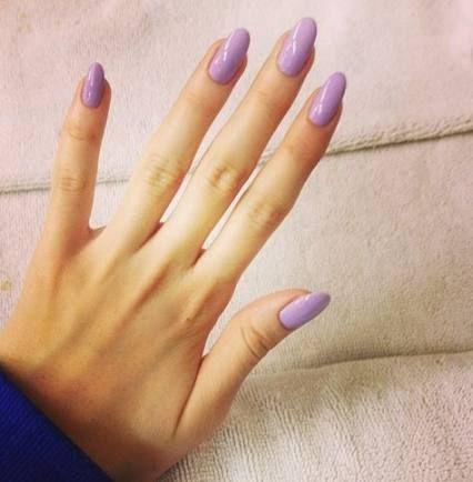super nails shape almond lavender ideas  lilac nails