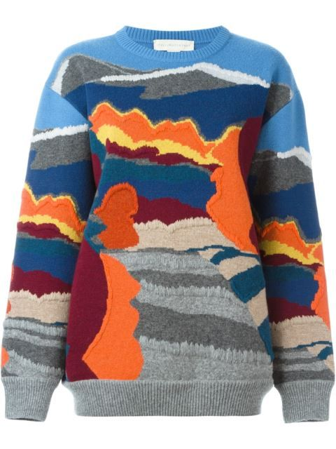 8a5a3e80e6a98c Stella McCartney Landscape Intarsia (Pattern Knitted-In) Sweater | This  Sweater makes me