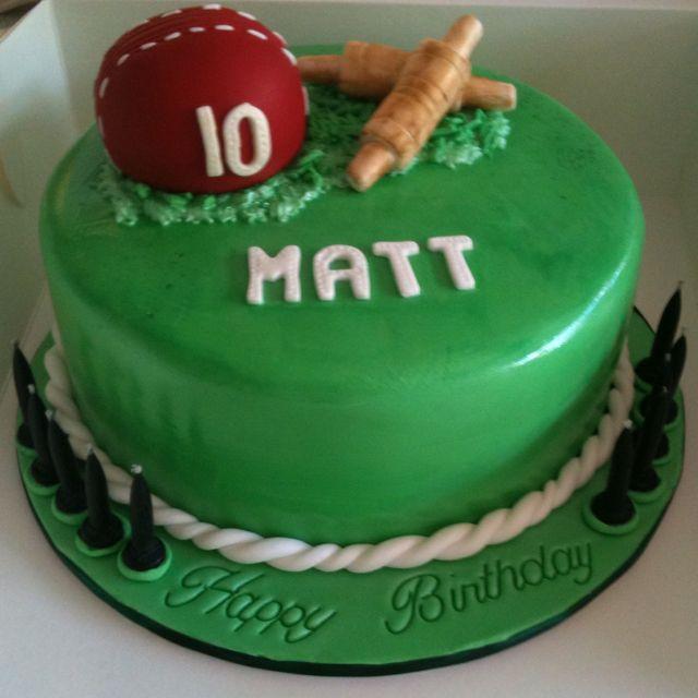 Cricket Cake - www.harrodcakes.com.au | Cricket birthday ...