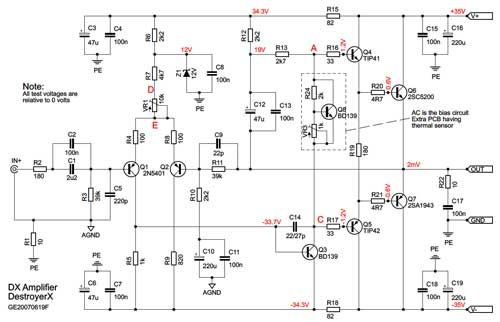 2sc5200 2sa1943 amplifier schematic sch�my pinterest audio2sc5200 2sa1943 amplifier schematic