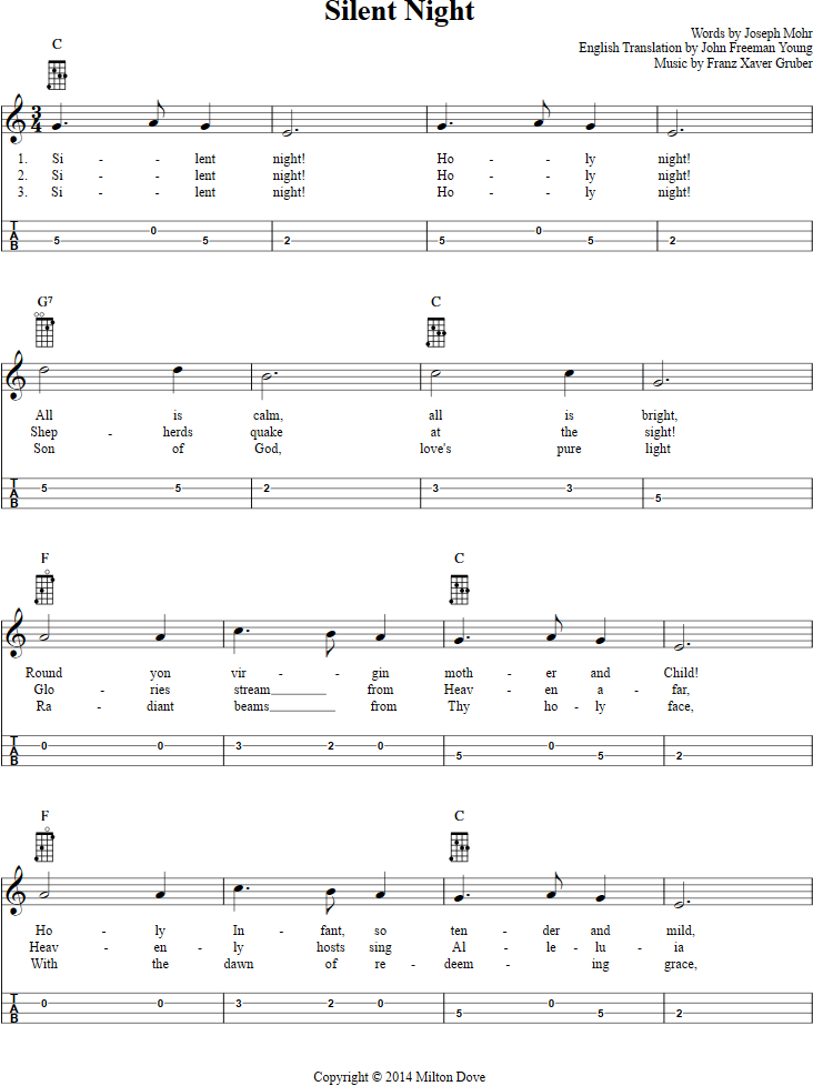 Silent Night Mandolin Tab Page 1 View The Full Song At Http