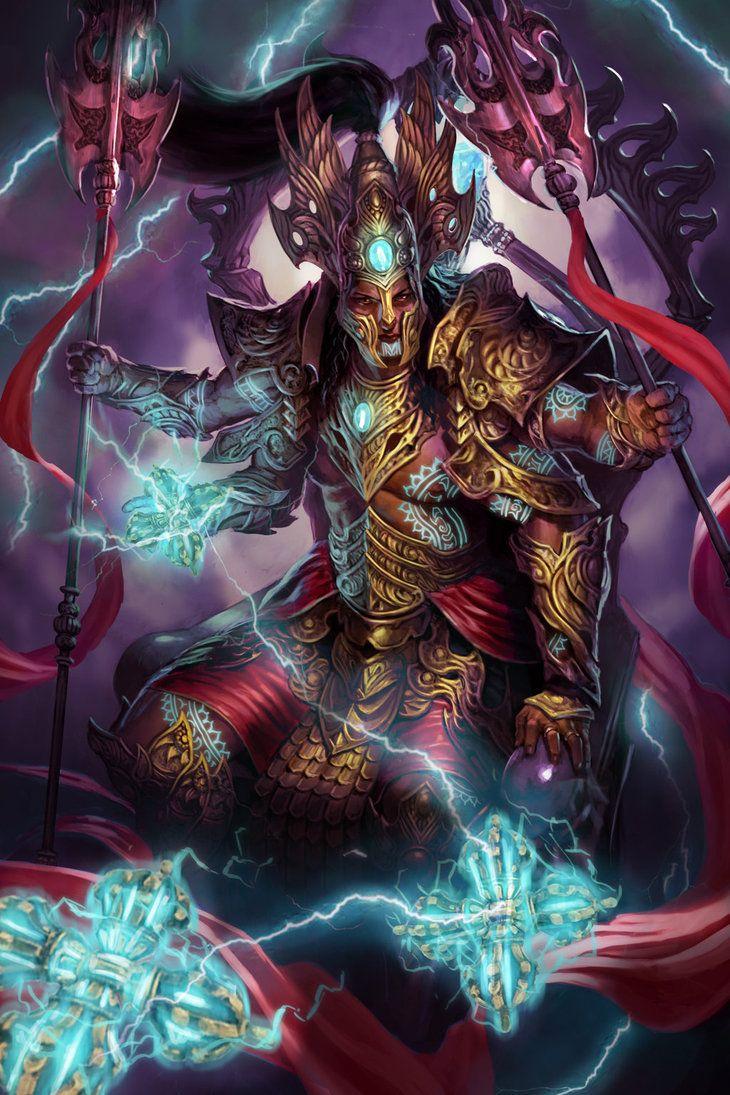 Indra-God of Thunder Lv3 by DiegoGisbertLlorens on DeviantArt