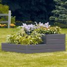 2-Tiered Square Raised Garden Bed Elevated Planter in Brown Resin on eBay for $1 #erhöhtepflanzbeete