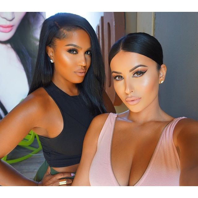 Shayla and Amrezy.. two of my favorite makeup artist #lovethem