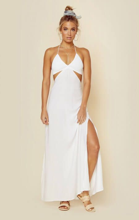 ff9e424f6f8 Indah Clothing Dresses Maxi Dresses Blaze Tri Smocked Maxi Dress ...
