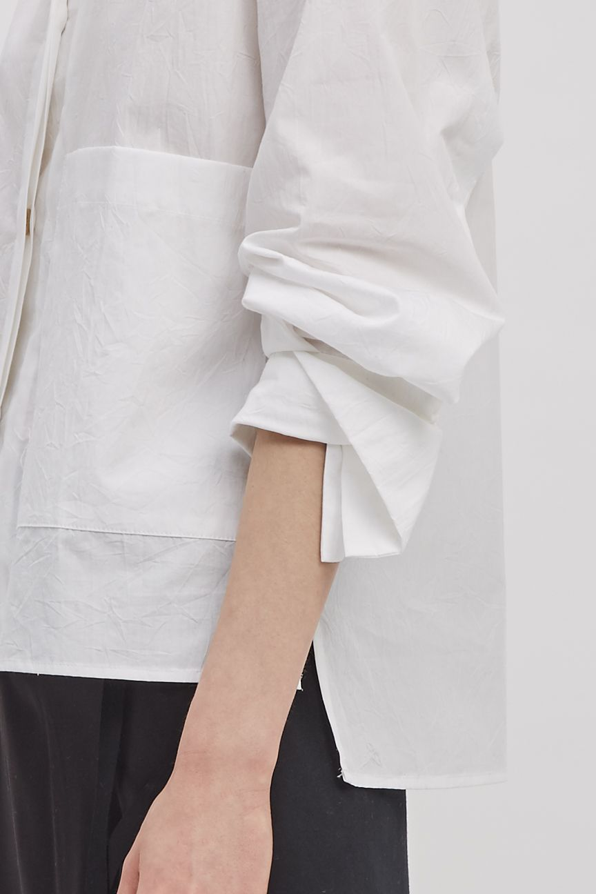 Button Front Shirt Starch Crinkles White Shirts And Cotton
