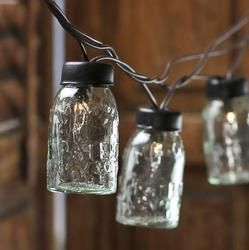 Box of 6 Mini Glass Mason Jar Light Covers - Lighting - Christmas Lights - Christmas and Winter - Holiday Crafts
