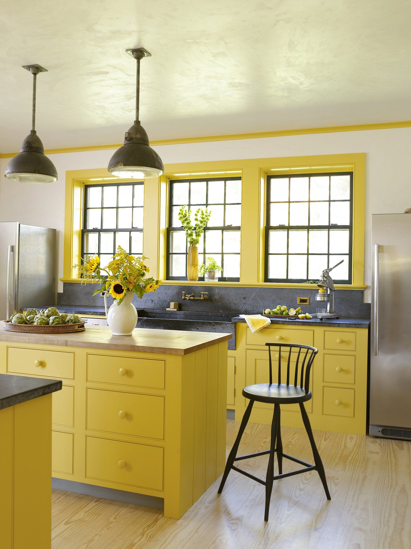 How to Paint Your Kitchen Cabinets   Yellow kitchen decor, Yellow ...