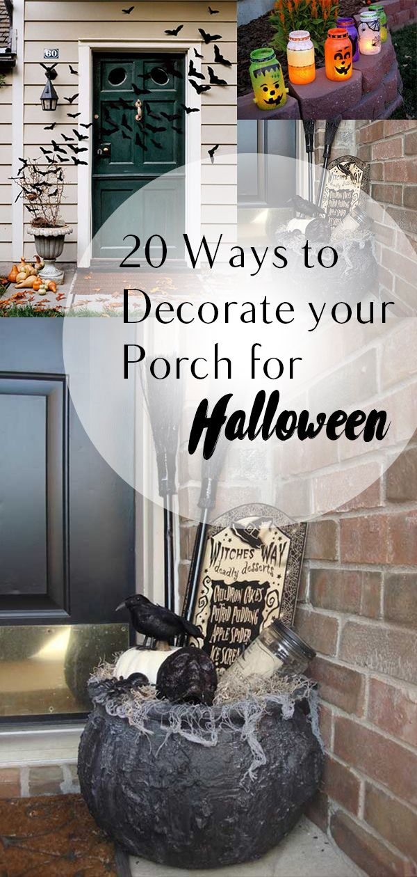 20 Ways to Decorate Your Porch for Halloween Porch, Decorating and