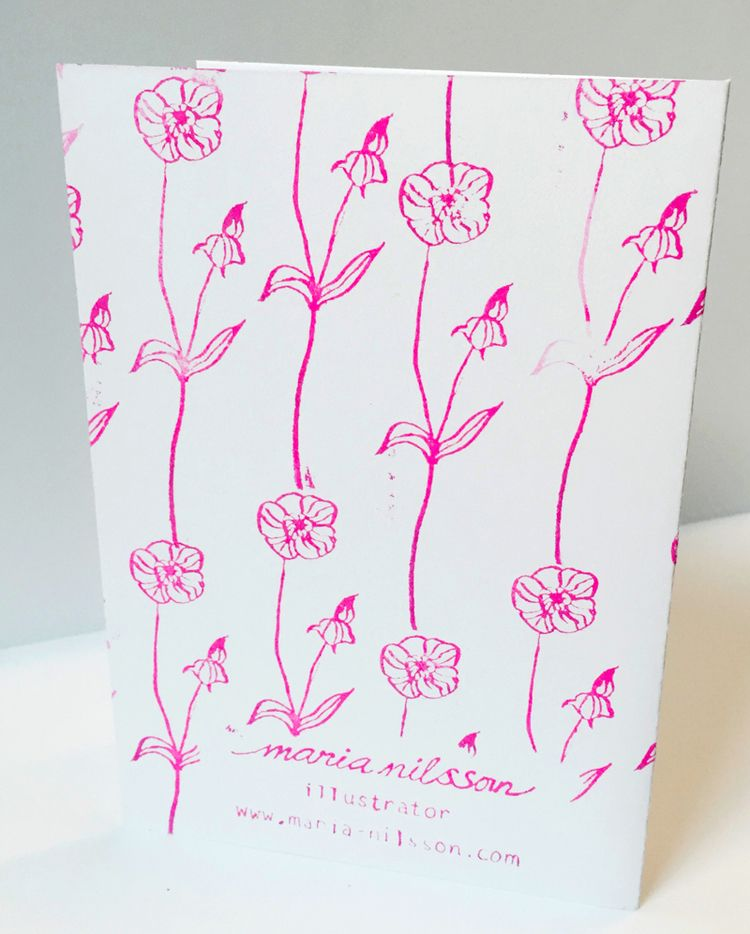 Buttercup card back by maria nilsson