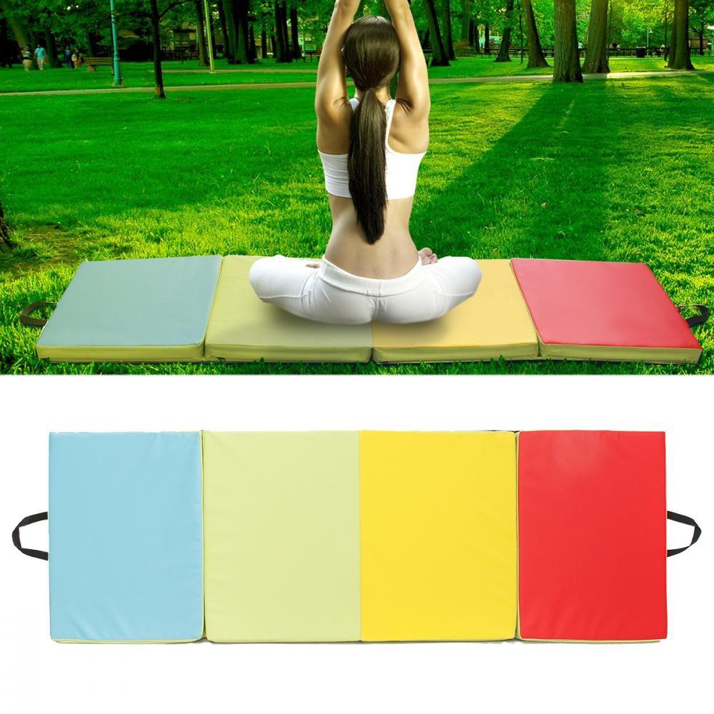 70.86x23.6x1.96inch 4 Folding Gymnastics Mat Yoga Exercise