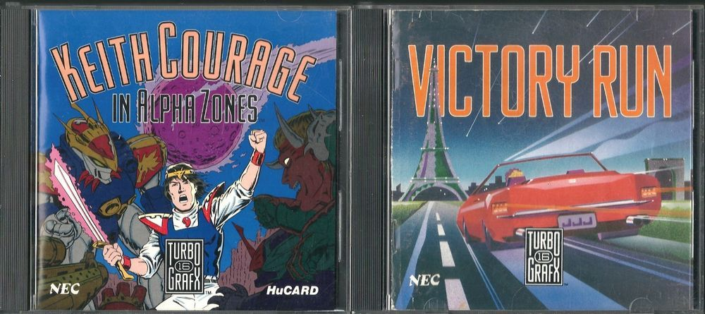 Keith Courage in Alpha Zones & Victory Run TurboGrafx-16  #turbografx