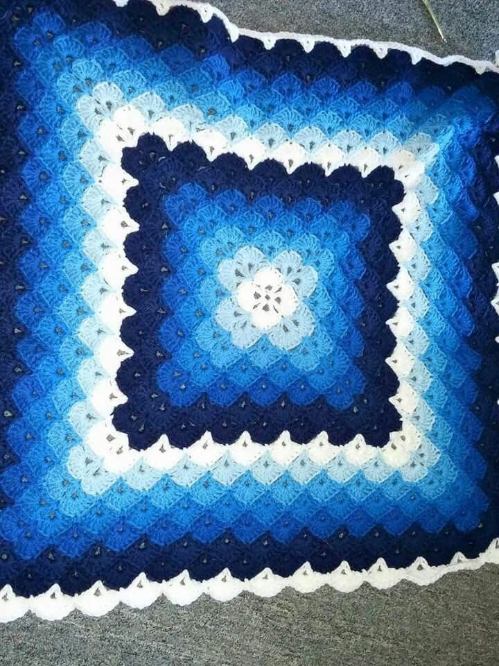 Shades of blue   Mantas   Pinterest   Colchas, Manta y Ganchillo