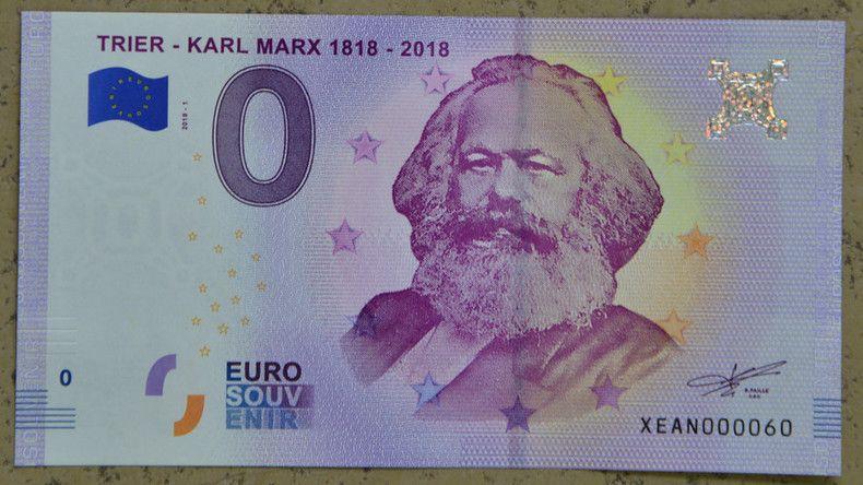 Der Zum 200 Geburtstag Von Karl Marx Aufgelegte Null Euro Schein
