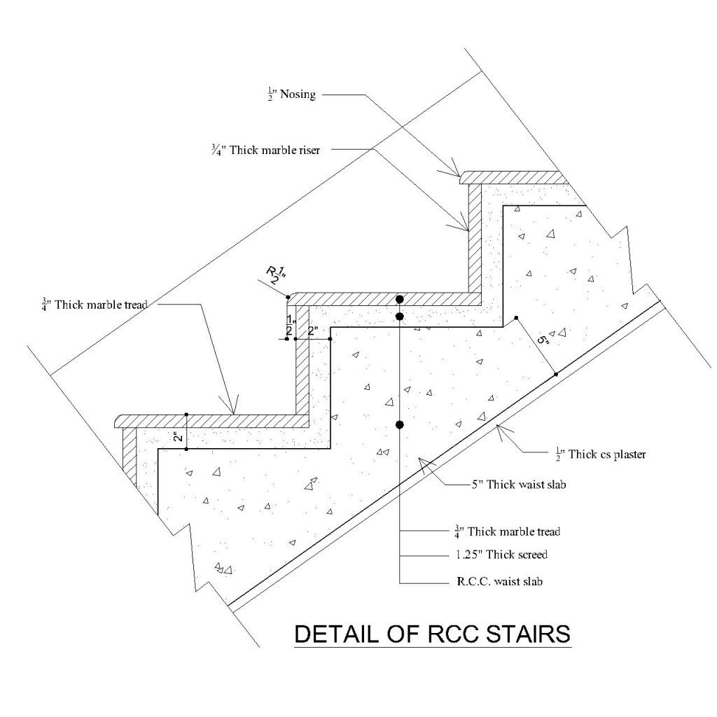 Stair Tread Profile Stair Detail Stair Well Concrete Stairs