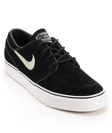 Nike SB Zoom Stefan Janoski Black Suede Shoes | Zumiez
