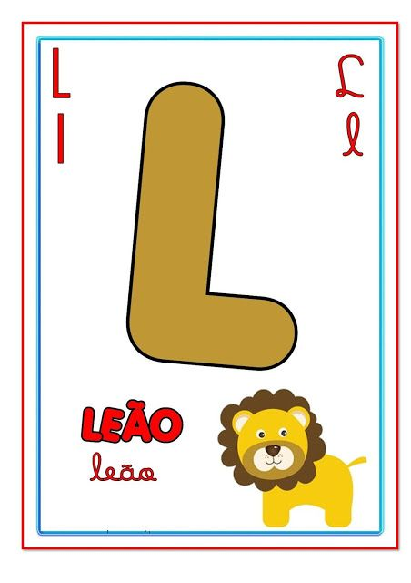 Cartazes Com Letras Do Alfabeto Ilustrado Para Imprimir Com