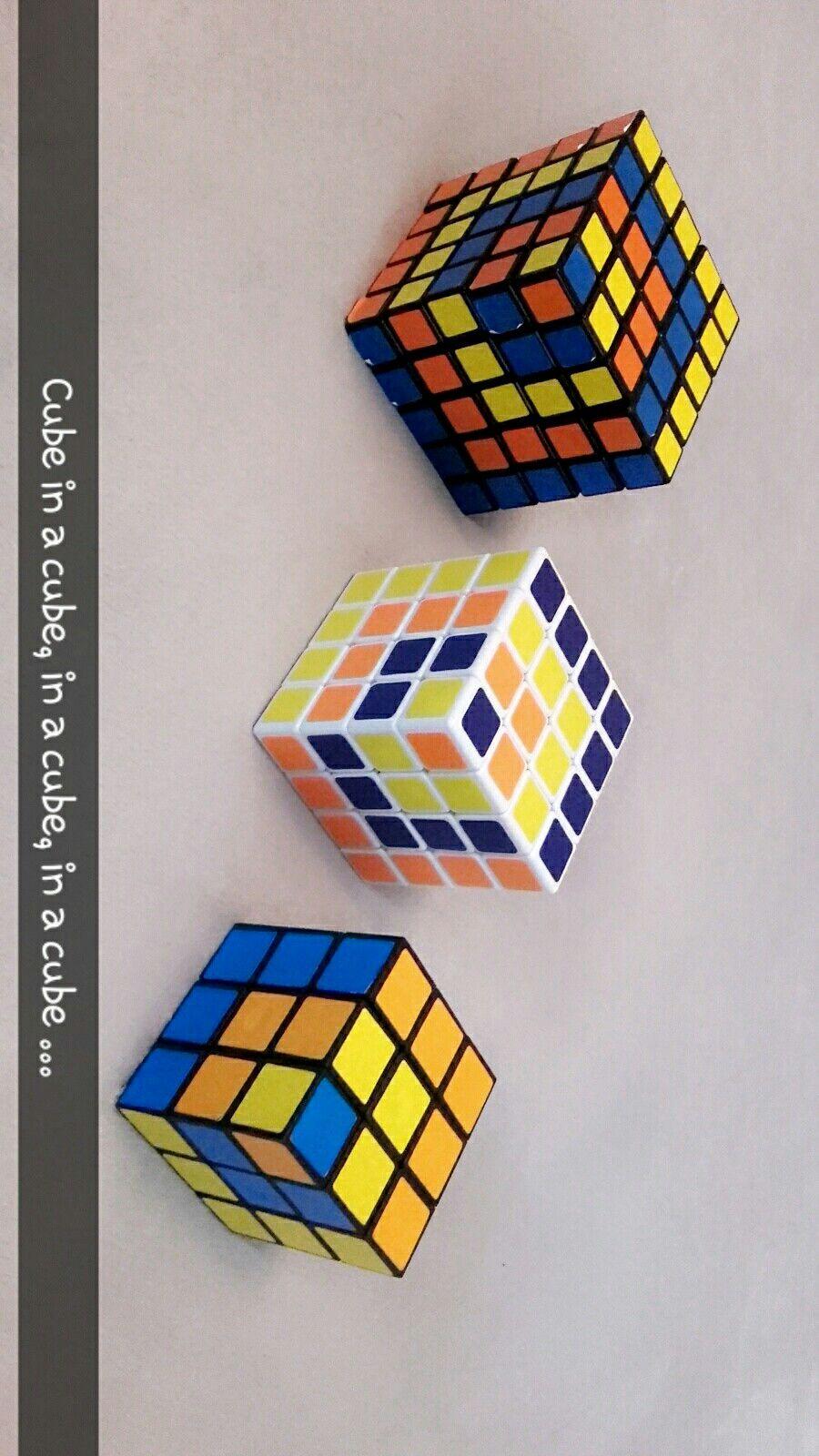 Zauberwurfel Rubiks Cube Coole Muster Mit 3 3 3 4 4 4 5 5 5 Cube In A Cube Rubix Cube Rubiks Cube Cube Puzzle