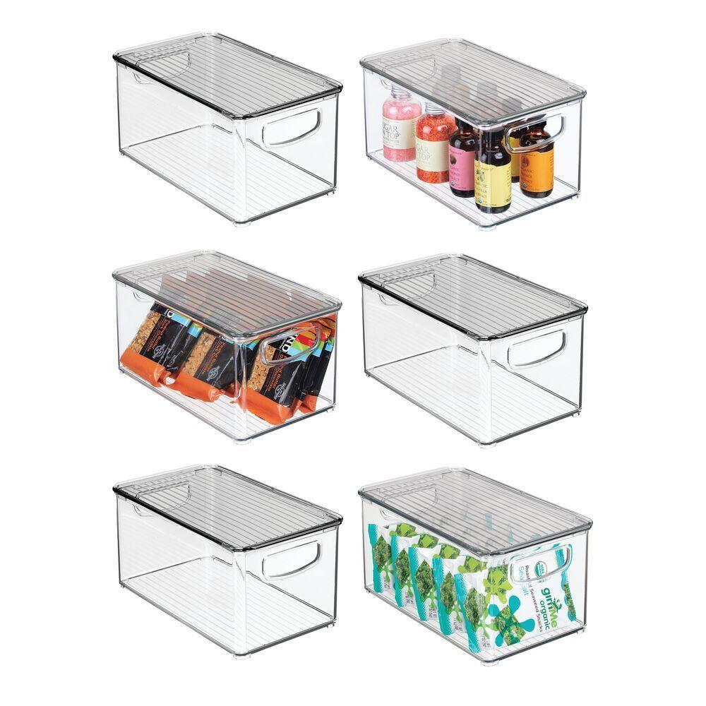 Plastic Kitchen Pantry Food Storage Box With Lid 10 X 6 X 5 In 2020 Storage Boxes With Lids Food Storage Boxes Freezer Food Storage