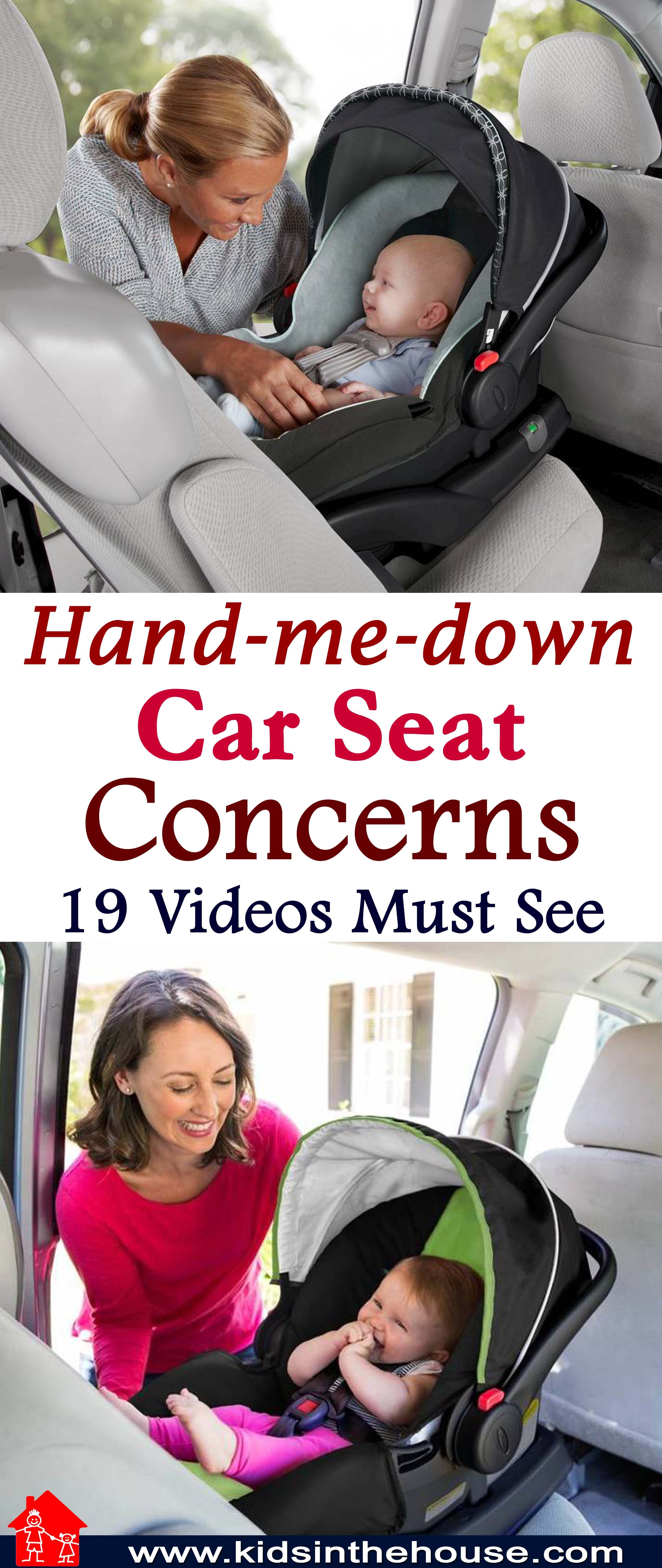 Handmedown car seats are safe to use if you, number one