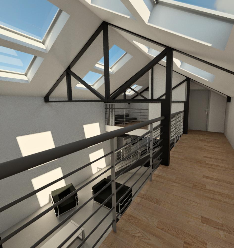 transformation d 39 un garage en loft a la madeleine id es pour la maison pinterest balcones. Black Bedroom Furniture Sets. Home Design Ideas