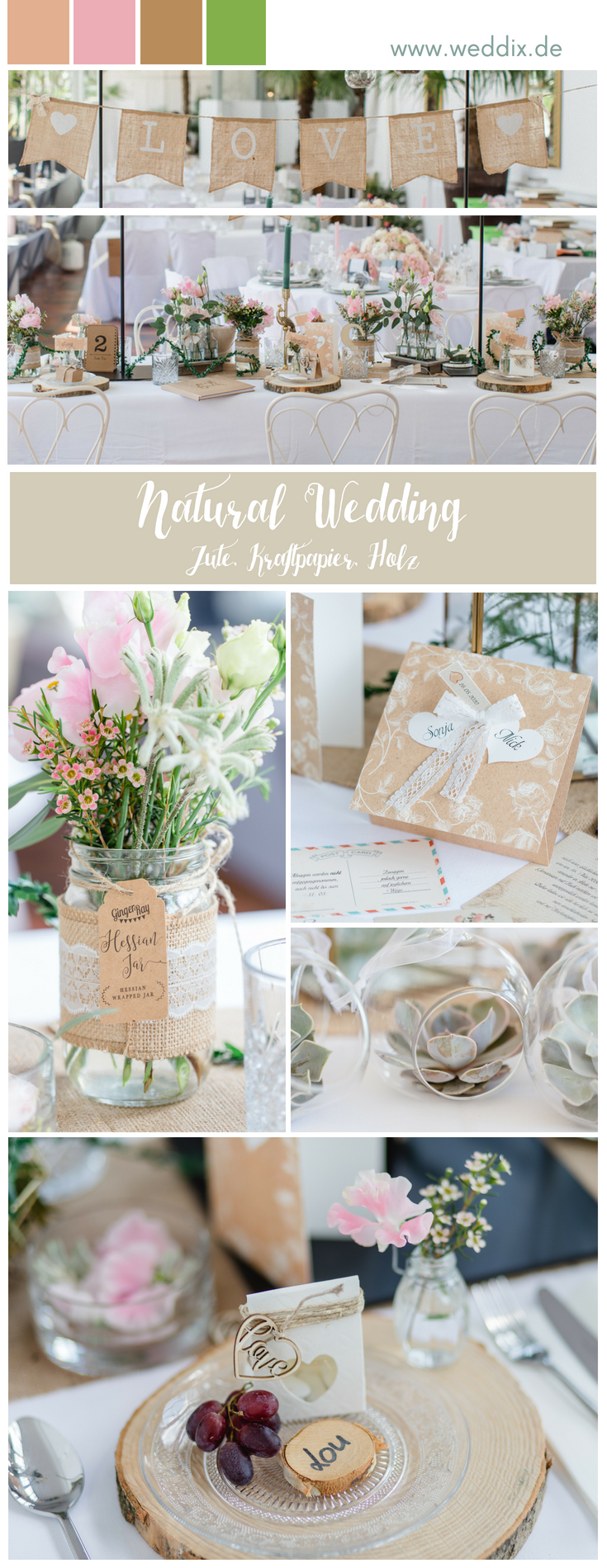 Inspiration Natural Wedding Mustertisch Naturhochzeit