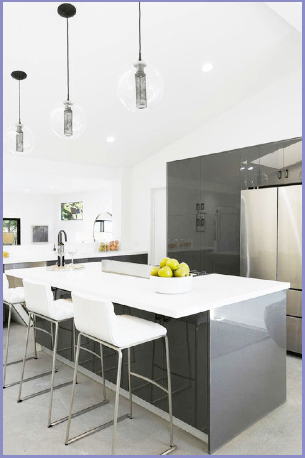 Contemporary Kitchen Photos Example Of A Trendy Kitchen Design In Los Angeles By Inha In 2020 Contemporary Kitchen Farmhouse Kitchen Remodel Italian Kitchen Cabinets