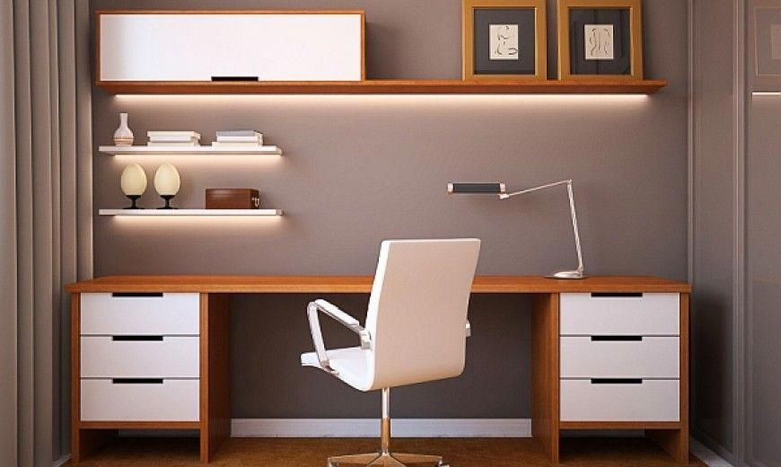 Office Design Ideas For Small Offices With Simple Long Table
