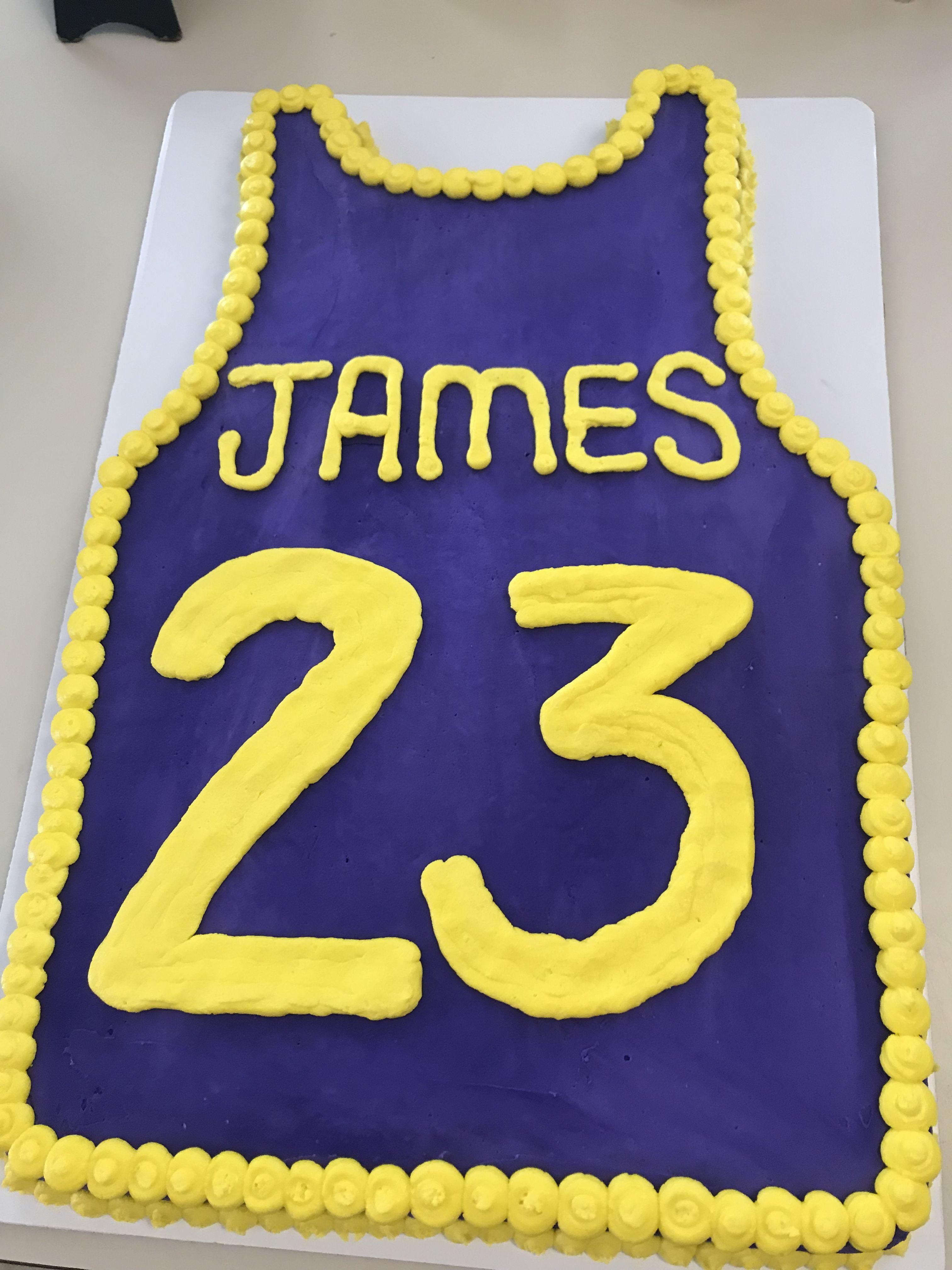 Lebron James La Lakers Jersey Cake Lebron James Birthday