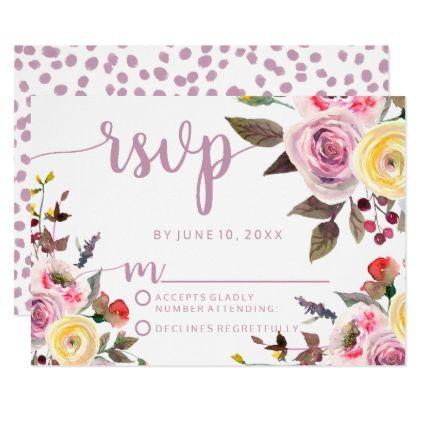 #wedding #responsecards - #Sweet Rose Watercolor Floral Wedding RSVP Response Card