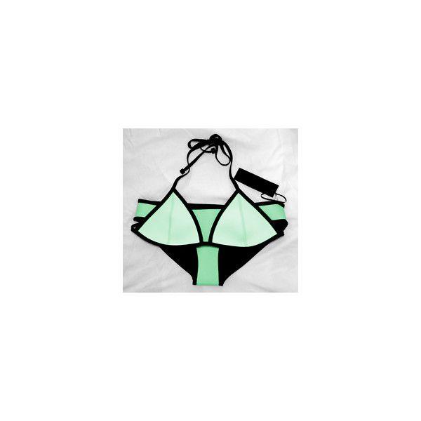 mine summer boho Model black edit want models bikini victorias secret... ❤ liked on Polyvore featuring swimwear, bikinis, pictures, green, icons, photos, triangle bikini swimwear, bohemian bikini swimwear, triangle bikinis and triangle swimwear