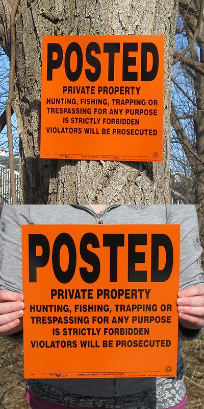 Trail Markers and Signs 177889: Lot Of 200 Posted Private Property Hunting Signs BUY IT NOW ONLY: $218.0