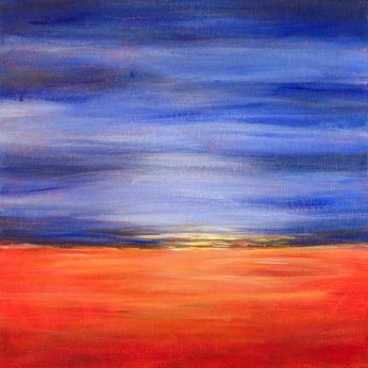 Easy Acrylic Painting Ideas Abstract Landscape Simple