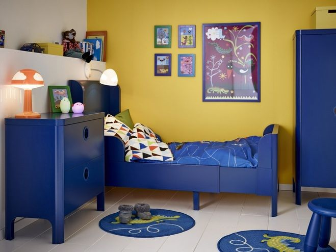 Paint color schemes for boys bedroom - Yellow and white wall paint ...