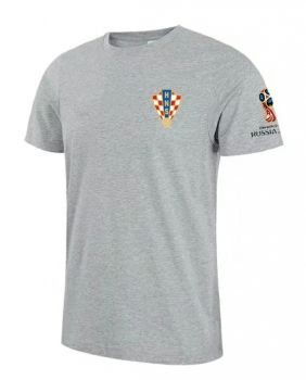 6fe2e8a25 2018 World Cup T Shirt Croatia Replica Grey Tee  CFC693