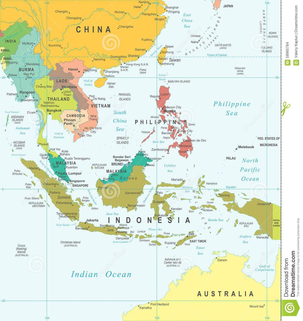 La Cartina Geografica Dell Asia.Risultati Immagini Per Cartina Geografica Del Sud Est