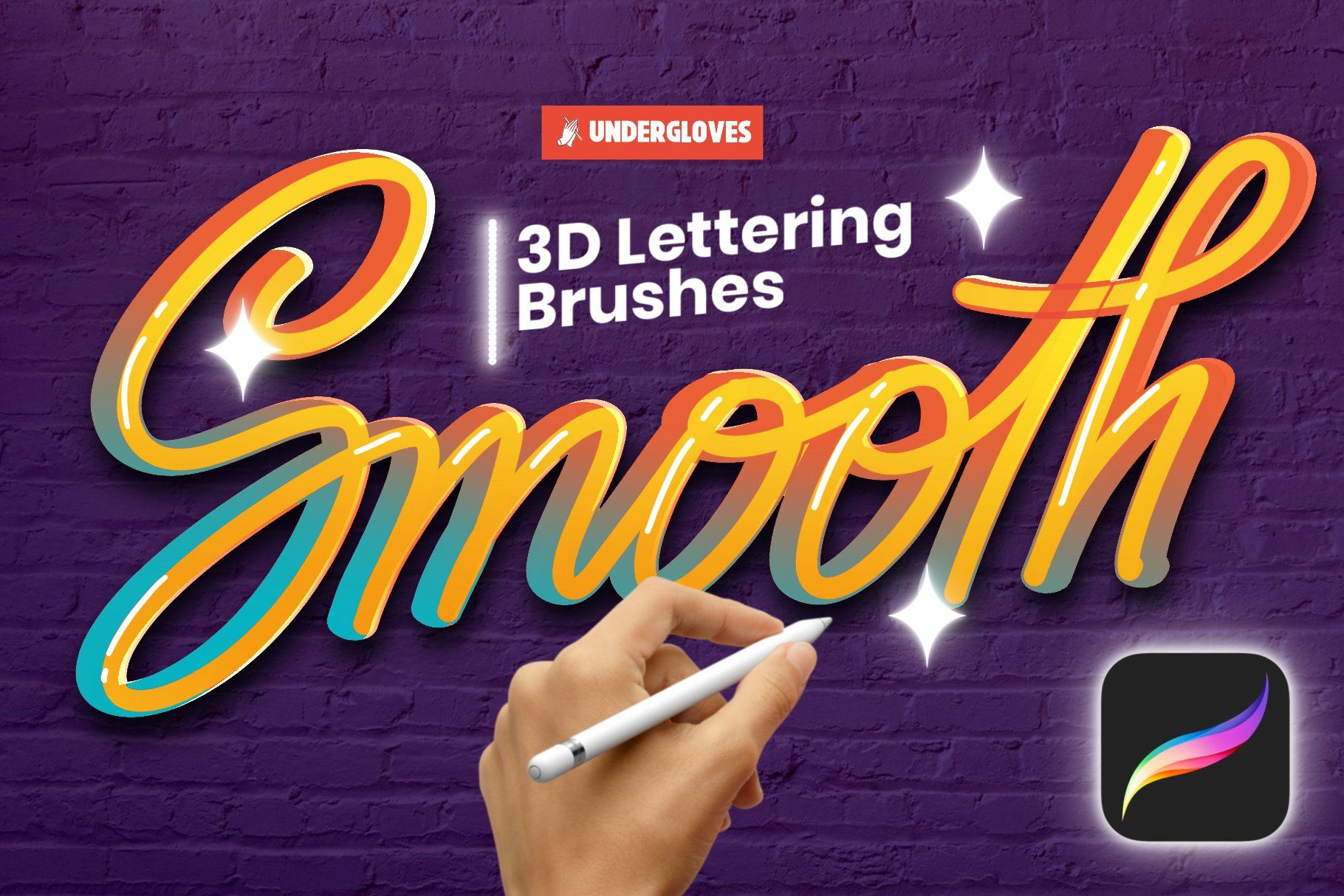 Download 22 Procreate 3D stroke brushes by Underglovesᵂᴶ on ...