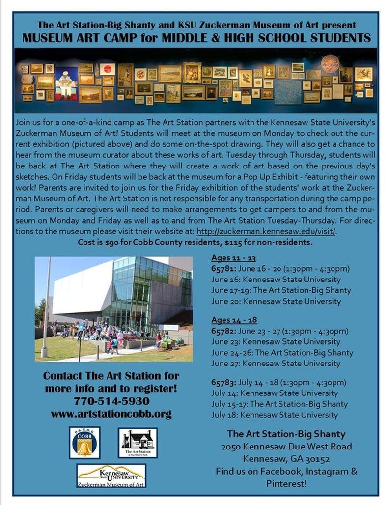 The Art Station Big Shanty Art Station Kennesaw State University Camping Art