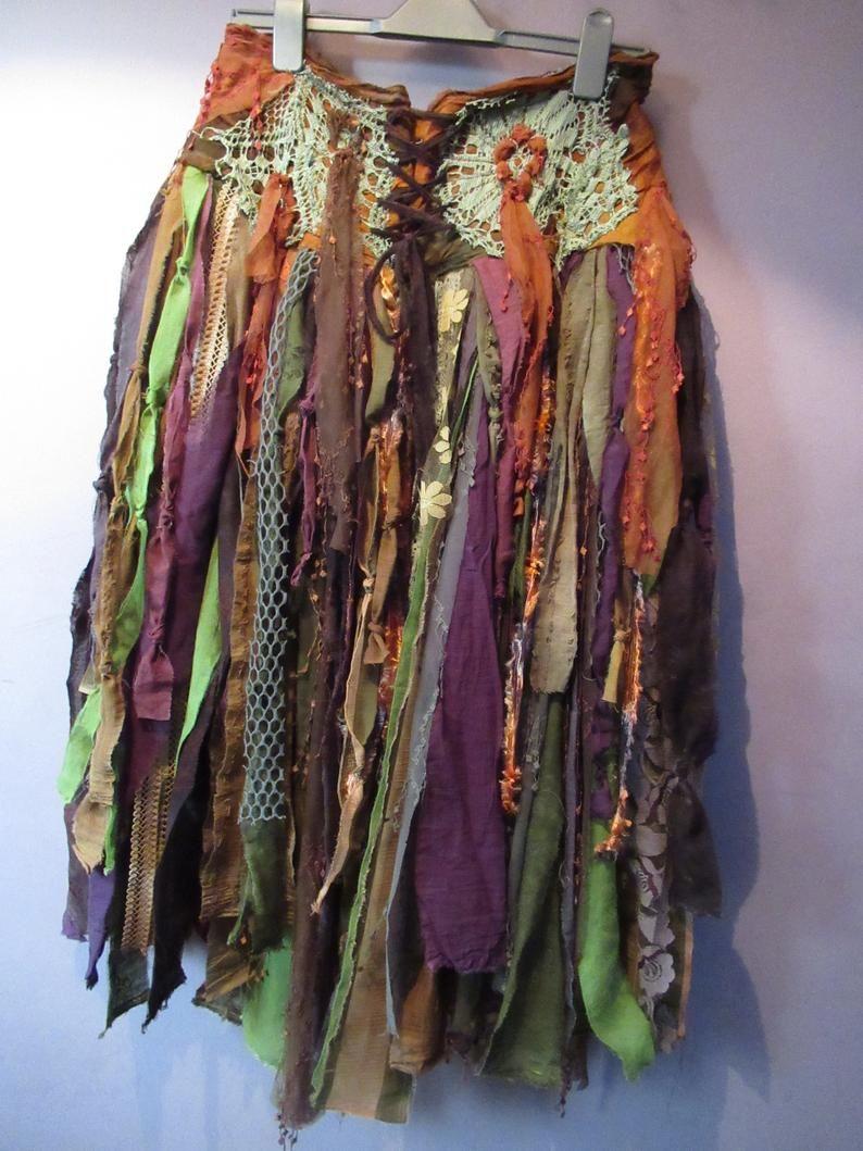 Dusty Pink High Low Skirt Woodland Fairy Boho Cosplay Festival Festival Fairy