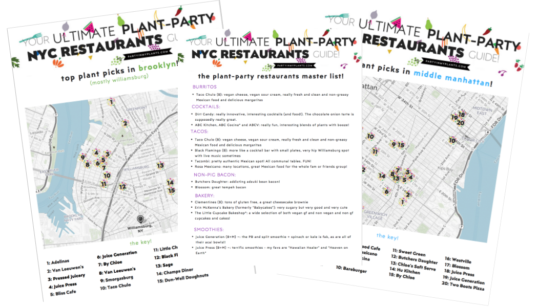 #33: The Ultimate NYC Plant-Party Restaurant Guide! with Ilene Moreno
