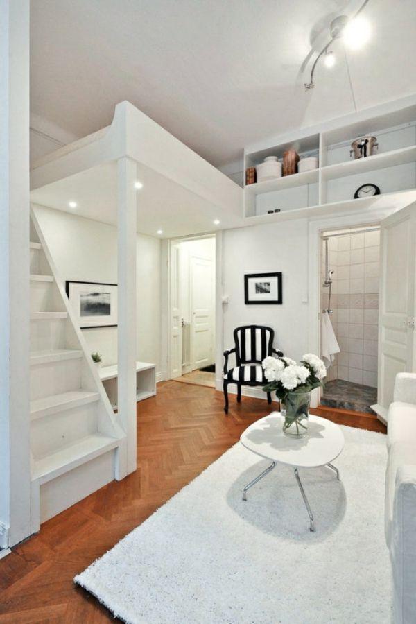 moderne einrichtung in wei einrichten und wohnen pinterest lofts and bedrooms. Black Bedroom Furniture Sets. Home Design Ideas