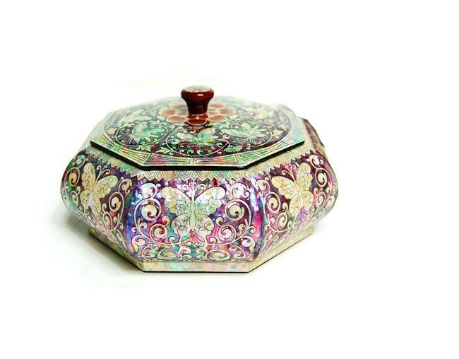 Lacquer ware inlaid new mother of pearl by MotherOfPearlShop